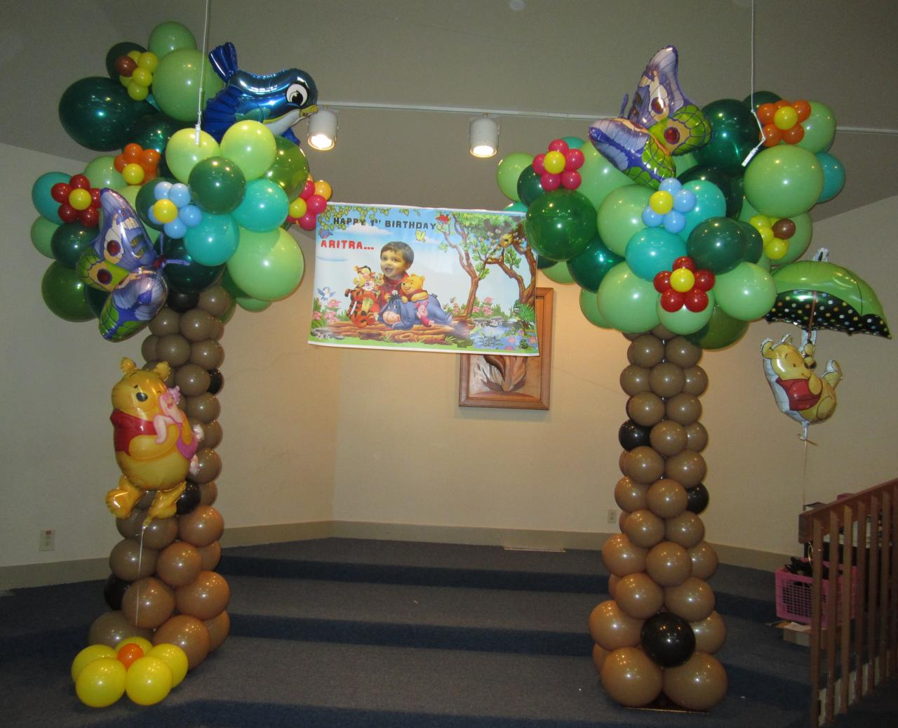 Winnie The Pooh Balloon Arch Pictures To Pin On Pinterest