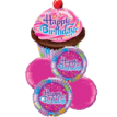Frosted Cupcake Balloon Bouquet